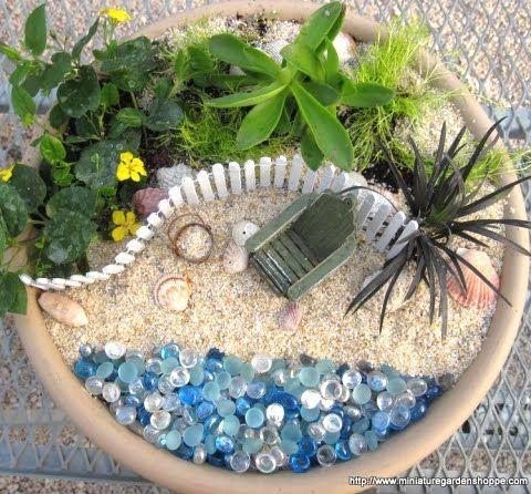 Fairy Garden Beach Scene