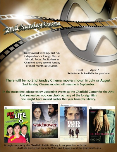 2nd Sunday Cinema summer break