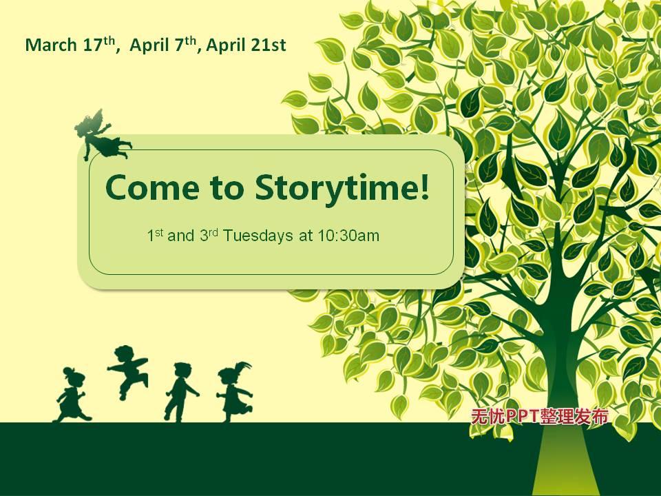 spring summer storytime poster