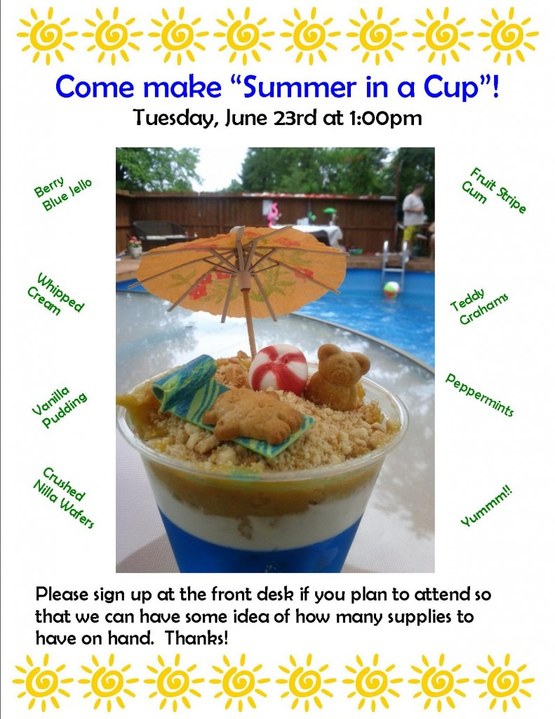 Summer in a cup food craft