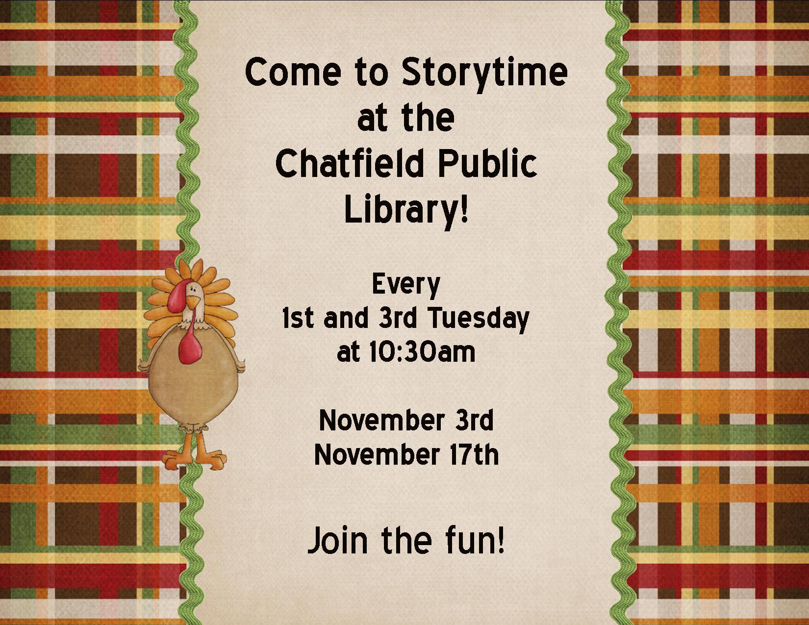November storytime poster