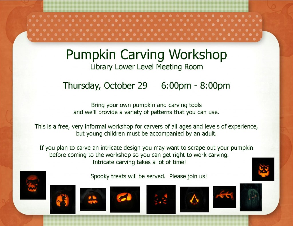 pumpkin carving workshop 2015