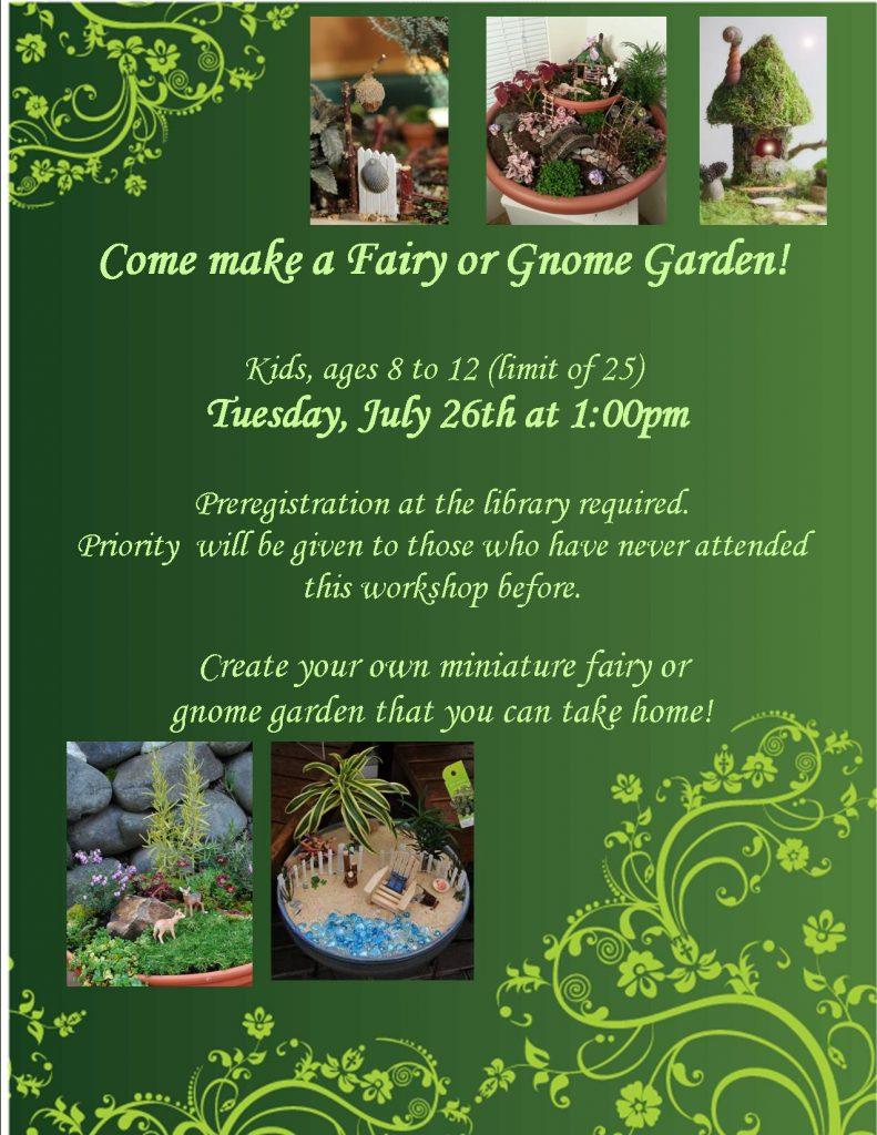 fairy garden poster 2016