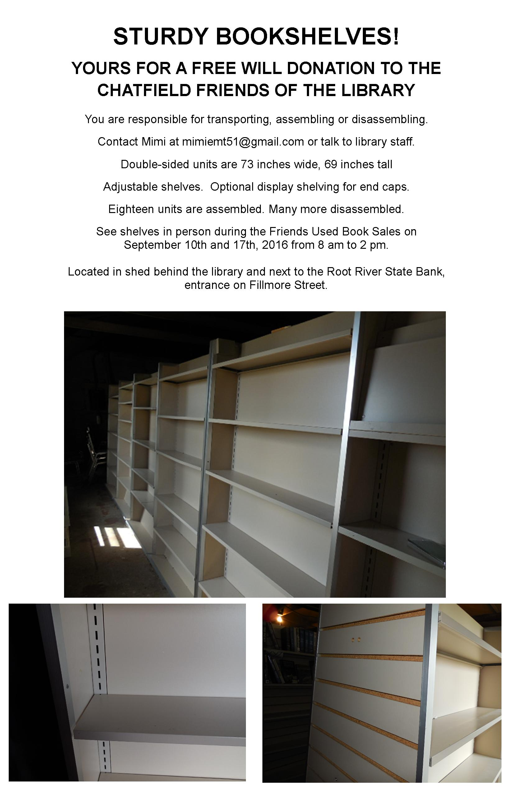 Shelving for Sale | Chatfield Public Library