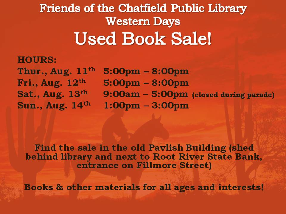Western Days Book Sale 2016