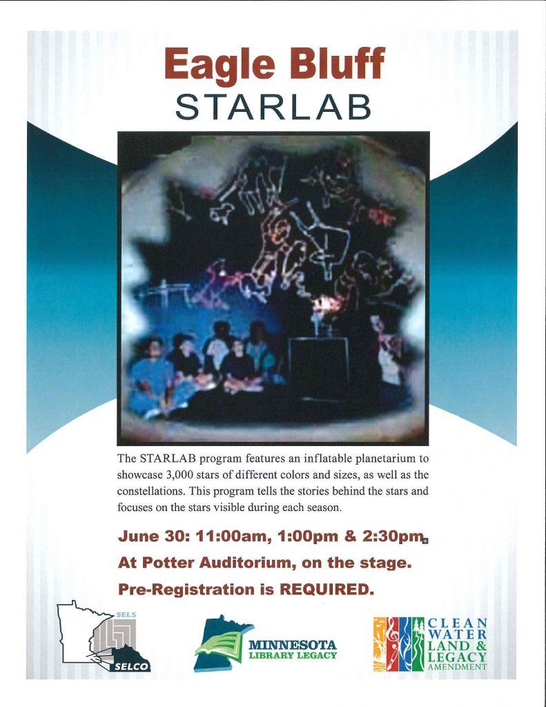 Eagle Bluff Starlab Inflatable Planetarium   Chatfield Public Library