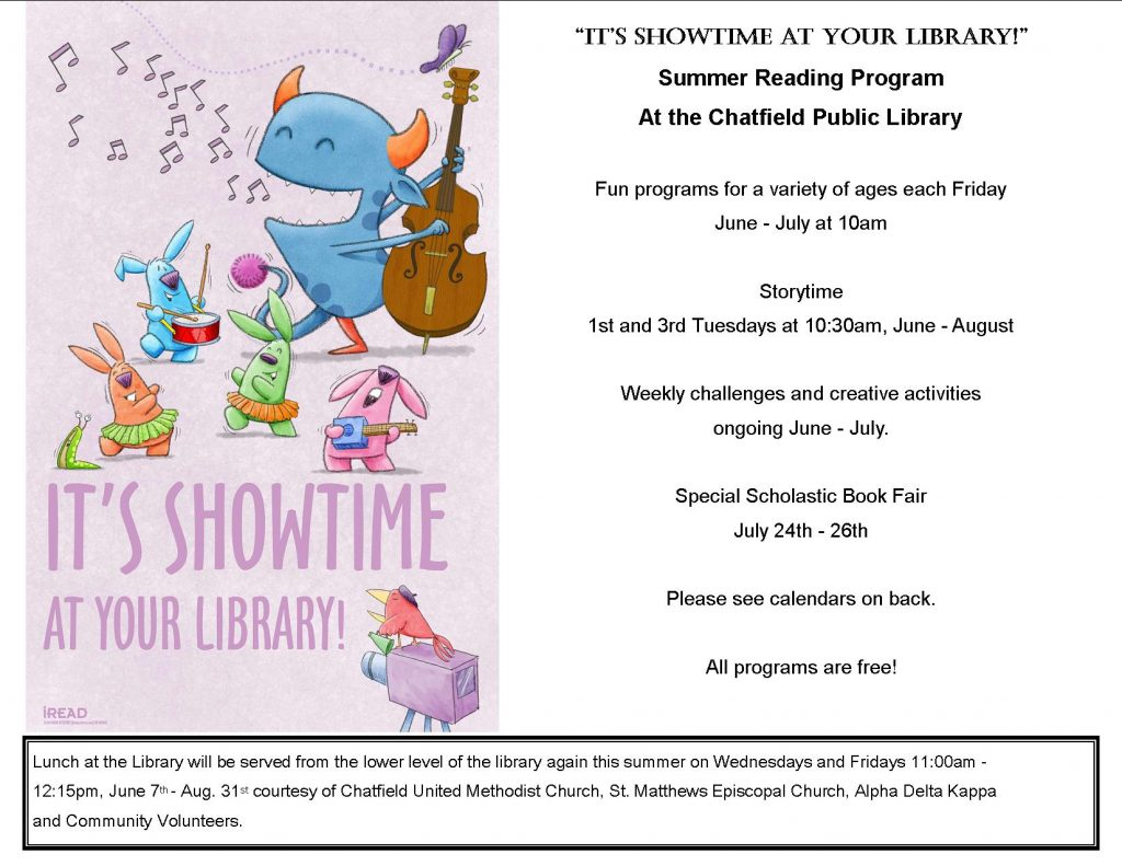 Summer Reading Program information