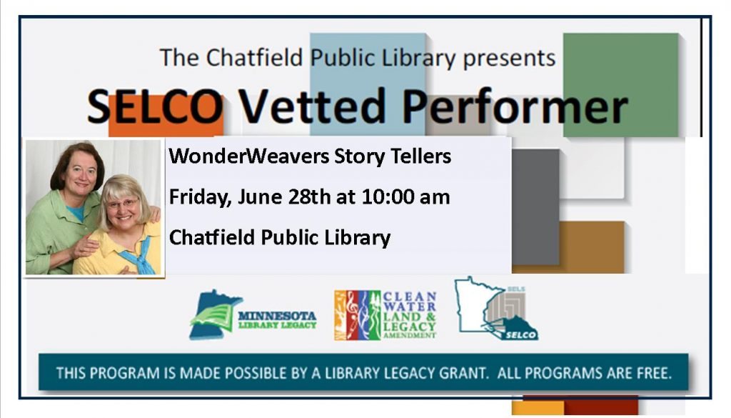 WonderWeavers Storytellers at the Library 6/28/19 at 10am.
